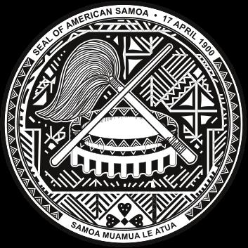 Wappen des Amerikanisch-Samoa hohe Auflösung