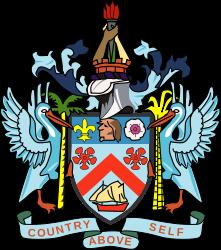 Wappen des St. Kitts und Nevis hohe Auflösung