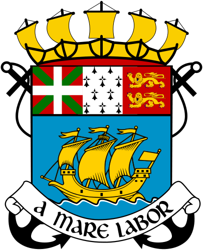 coat of arms of Saint Pierre and Miquelon high resolution