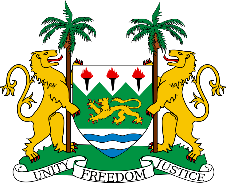 coat of arms of Sierra Leone high resolution