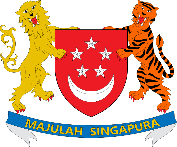 coat of arms of Singapore high resolution