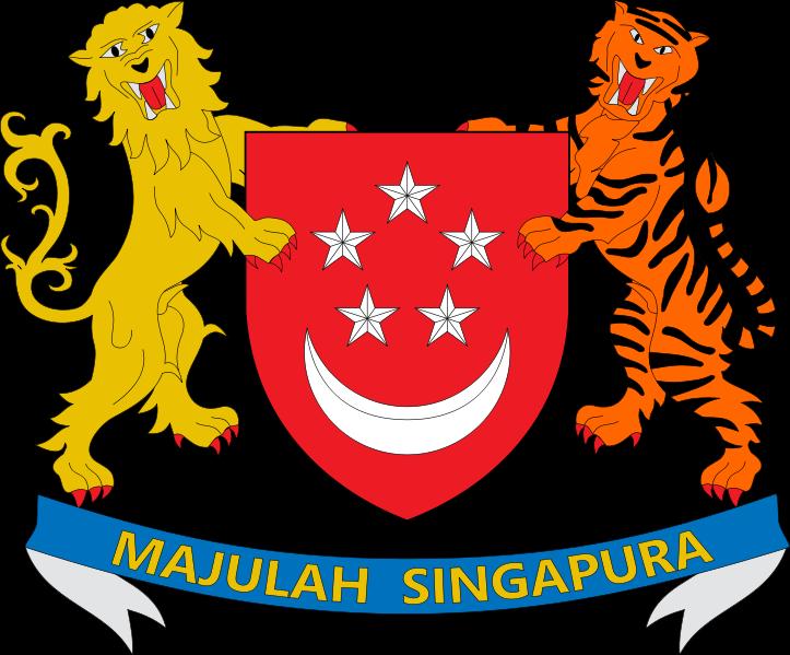 o escudo de Singapura em alta resolução