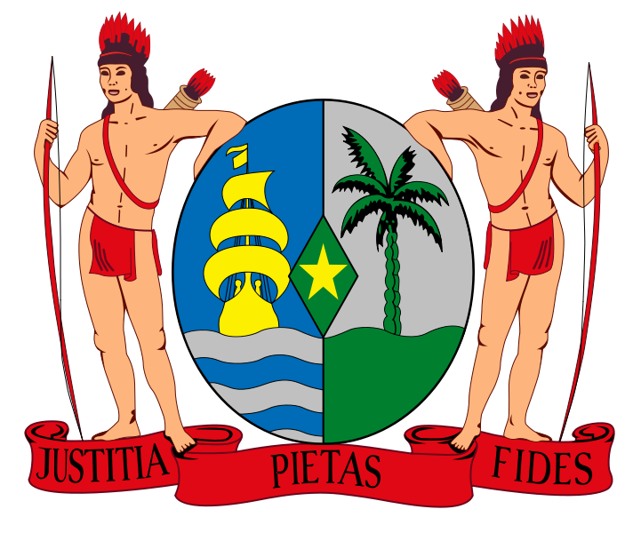 coat of arms of Suriname high resolution