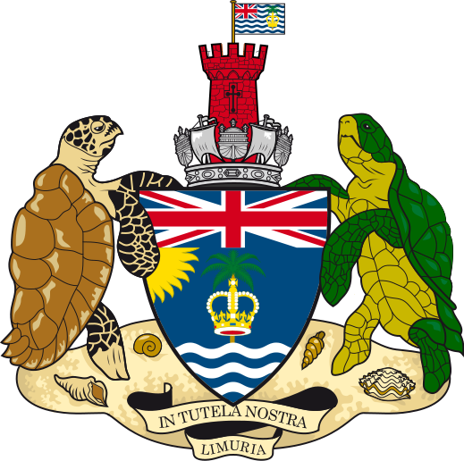 coat of arms of British Indian Ocean Territory high resolution