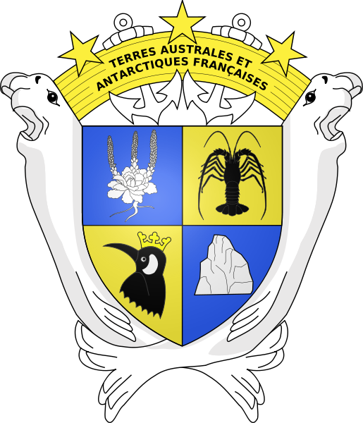 coat of arms of French Southern and Antarctic Lands high resolution