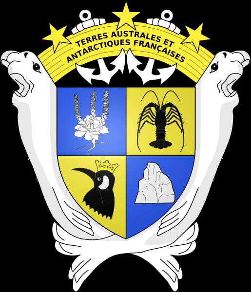 el escudo de Tierras Australes y Antárticas Francesas en gran resolucion