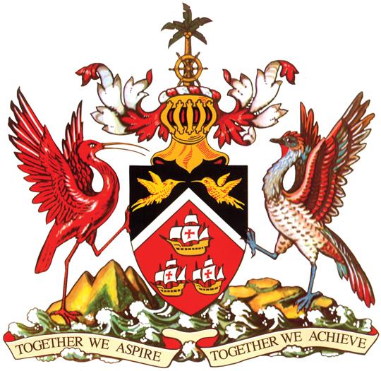 blason de Trinité-et-Tobago haute résolution