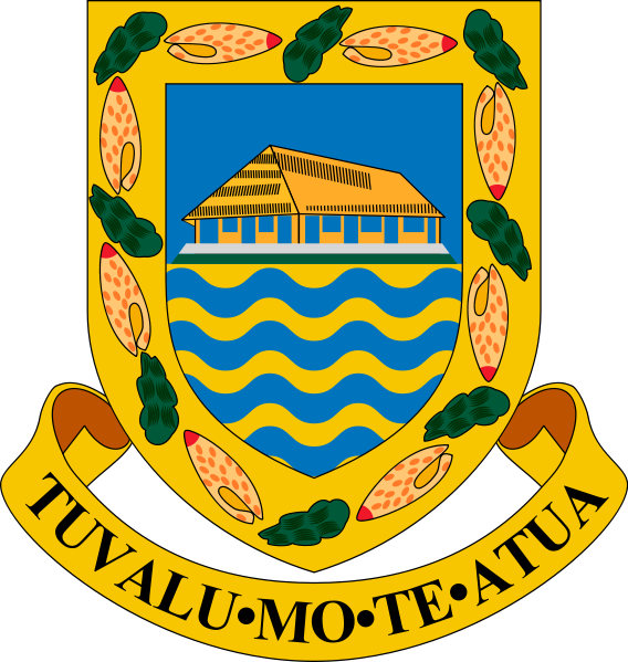 coat of arms of Tuvalu high resolution