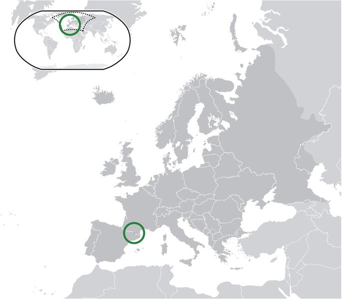 la situacion de Andorra en gran resolucion