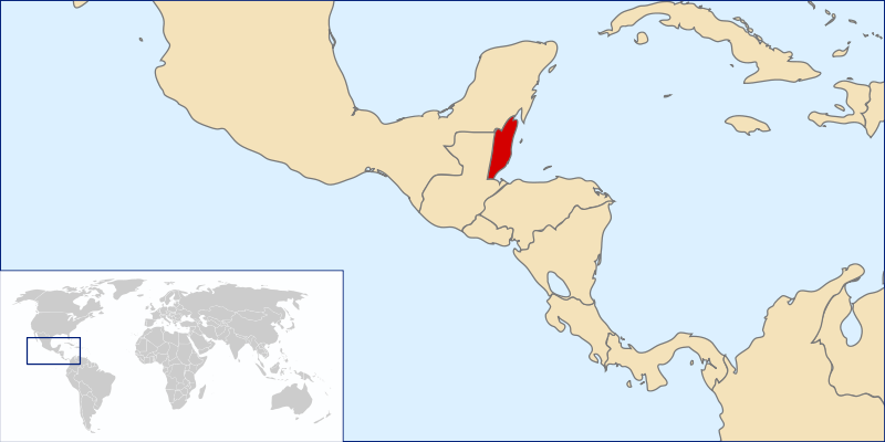 location of Belize high resolution