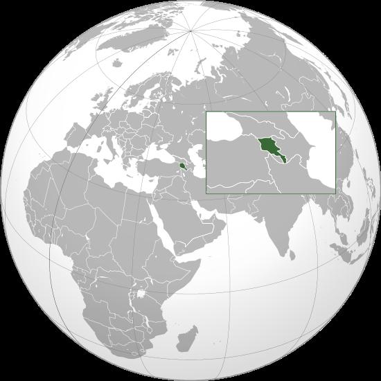 la situacion de Armenia en gran resolucion