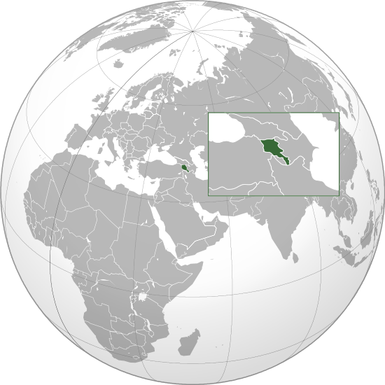 location of Armenia high resolution