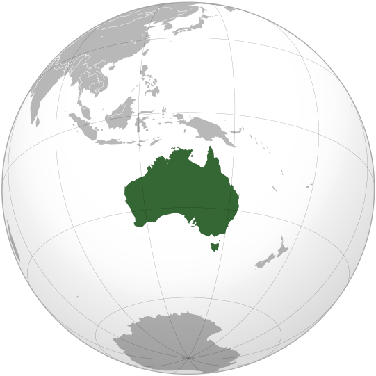location of Australia high resolution
