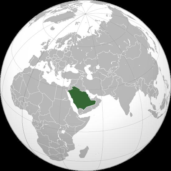la situacion de Arabia Saudita en gran resolucion