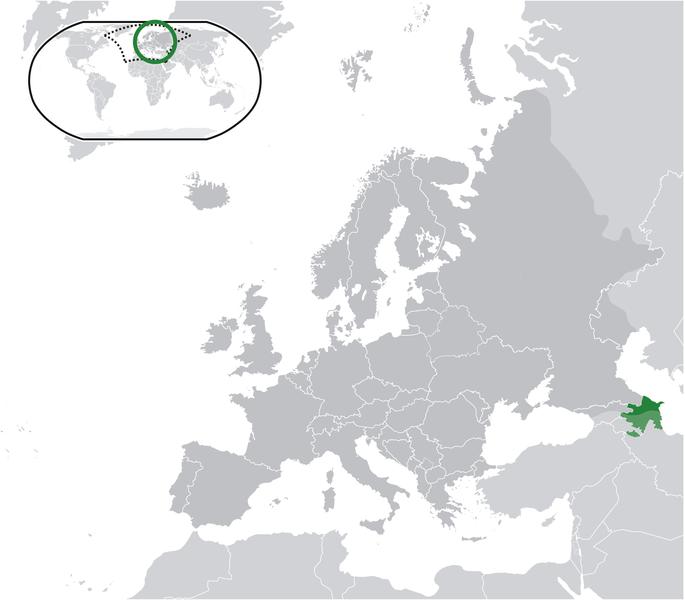 la situacion de Azerbaiyán en gran resolucion
