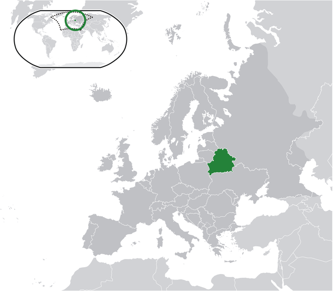 location of Belarus high resolution