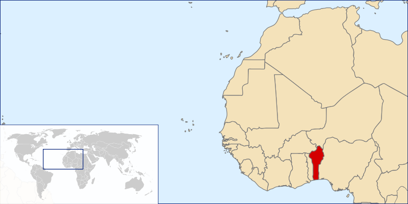 location of Benin high resolution