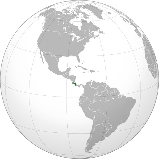location of Costa Rica high resolution