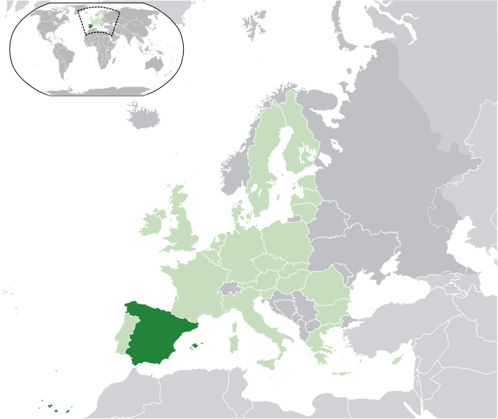 location of Spain high resolution