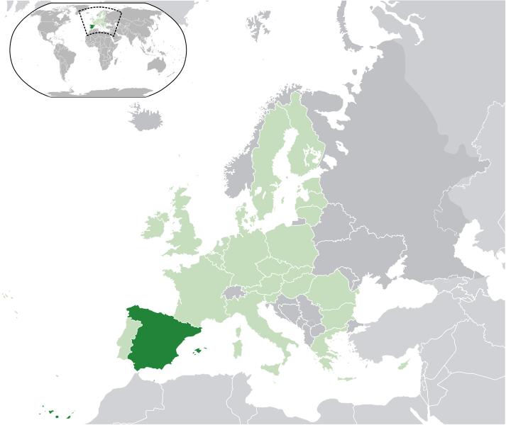 la situacion de España en gran resolucion