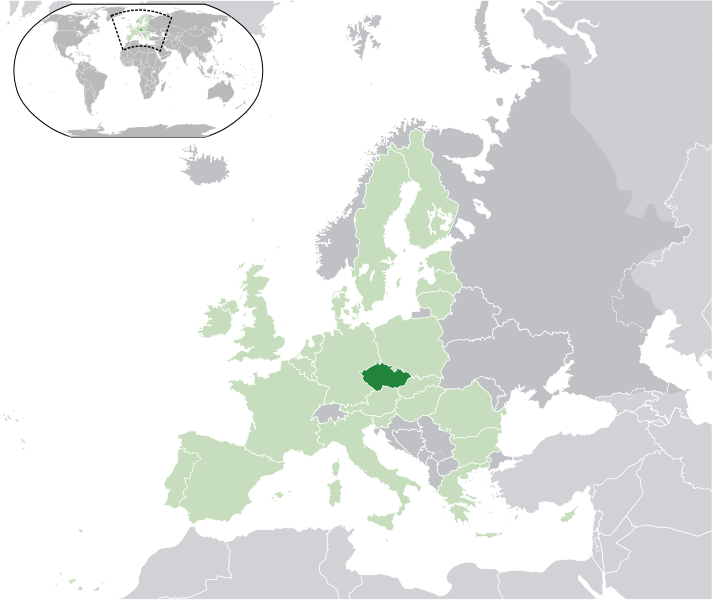 location of Czech Republic high resolution