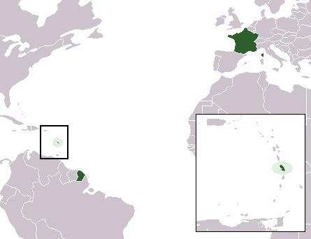 la situation des Martinique haute résolution