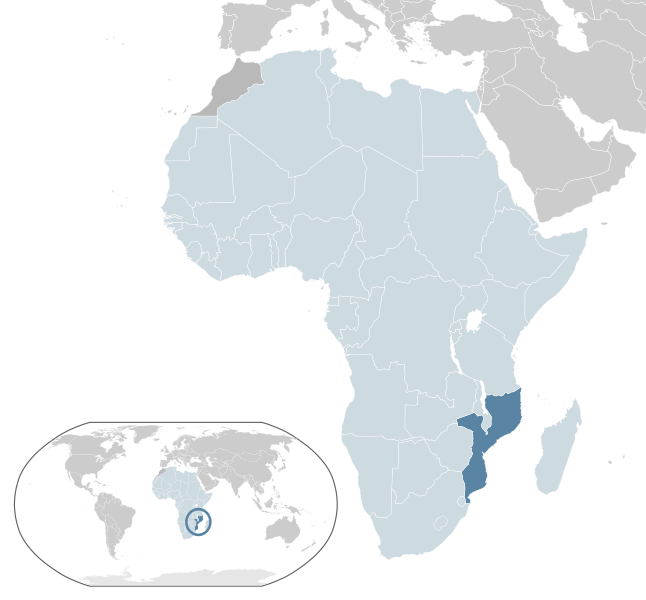 location of Mozambique high resolution
