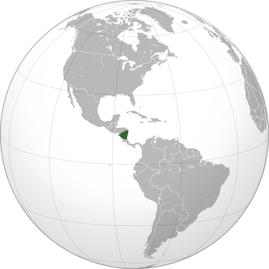 location of Nicaragua high resolution
