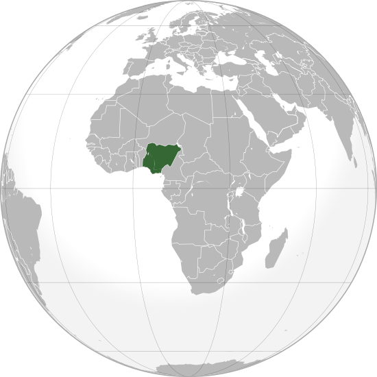 location of Nigeria high resolution