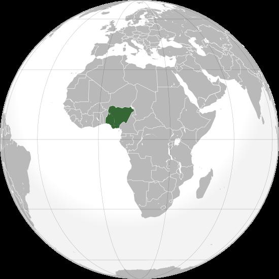 la situacion de Nigeria en gran resolucion