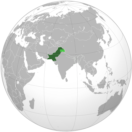 location of Pakistan high resolution