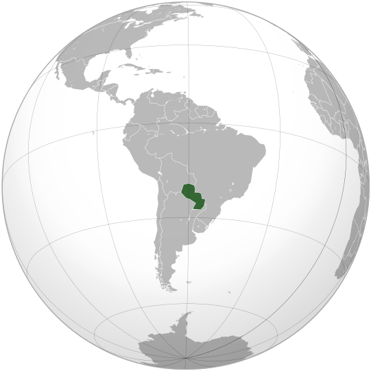 location of Paraguay high resolution