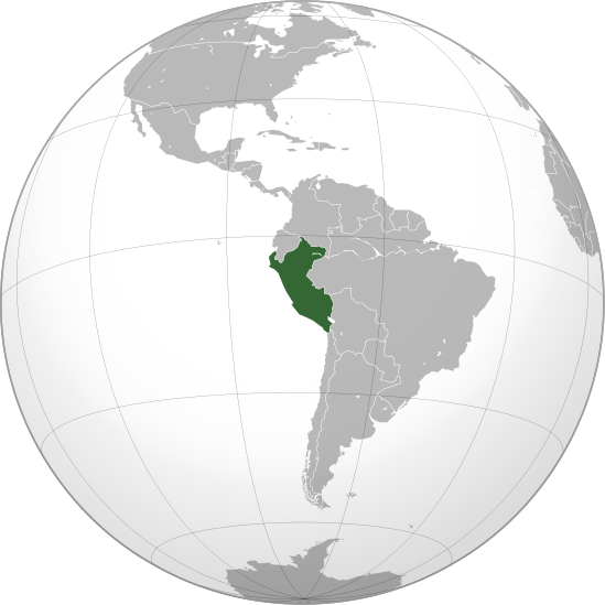 location of Peru high resolution