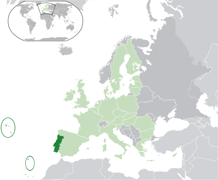 location of Portugal high resolution