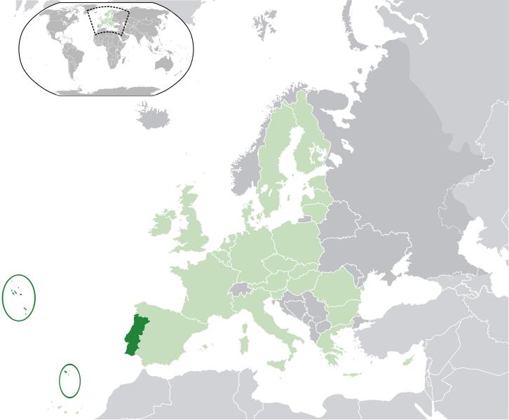 la situacion de Portugal en gran resolucion