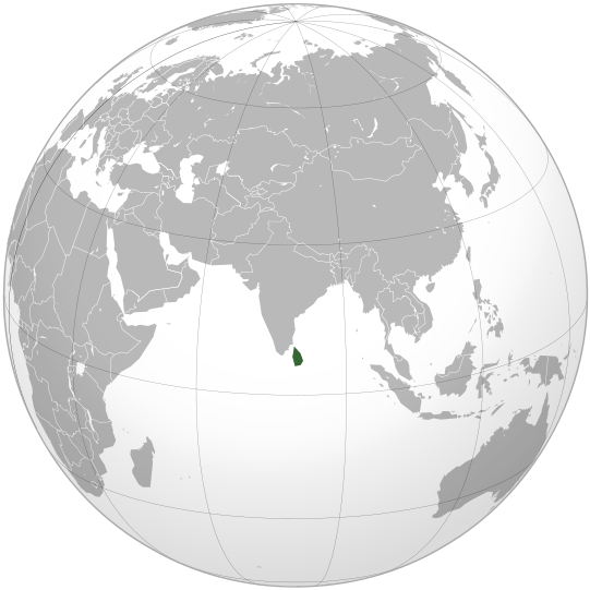 Lage von Sri Lanka hohe Auflösung