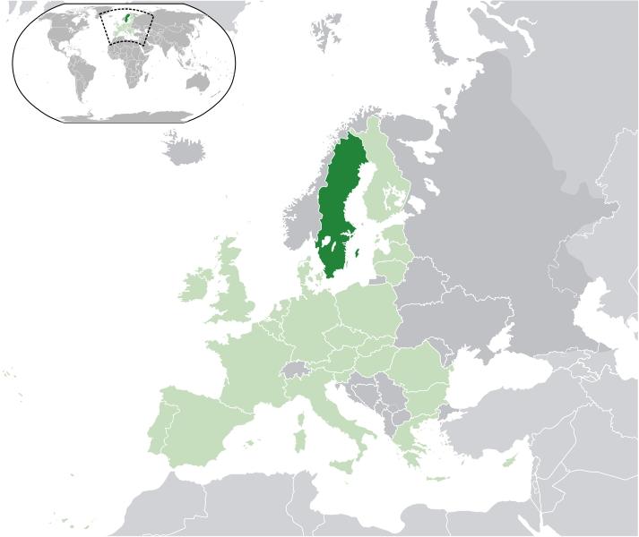 location of Sweden high resolution