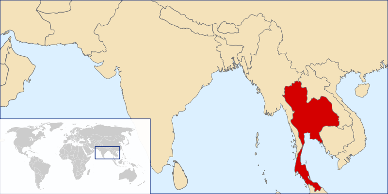 location of Thailand high resolution