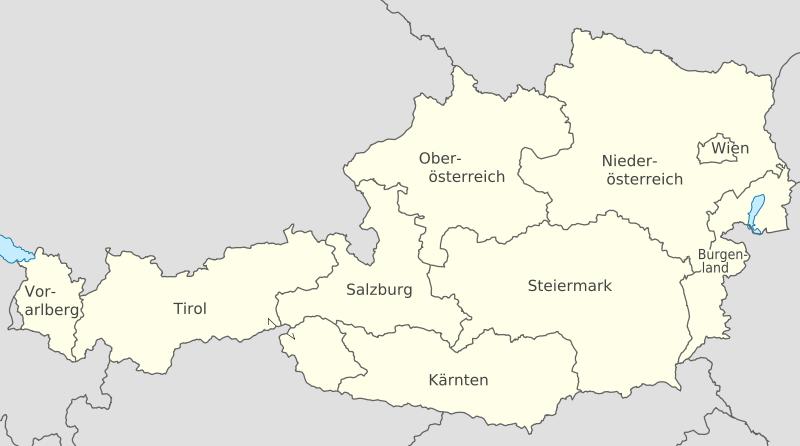 el mapa de Austria en gran resolucion