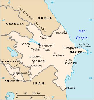 el mapa de Azerbaiyán en gran resolucion