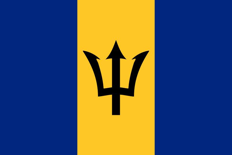 bandeira Barbados em alta resolução