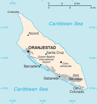 la carte de Aruba haute résolution