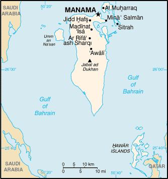 la carte de Baréin haute résolution