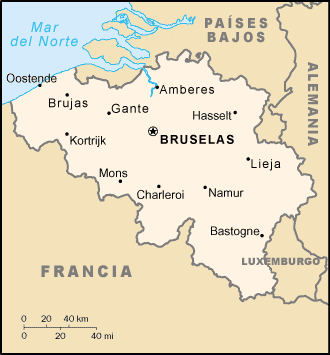 location of Belgium high resolution