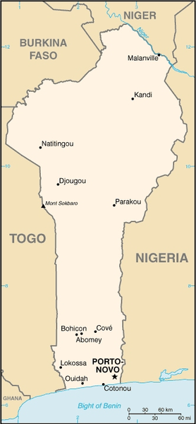 map of Benin high resolution