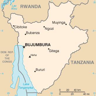 la carte de Burundi haute résolution