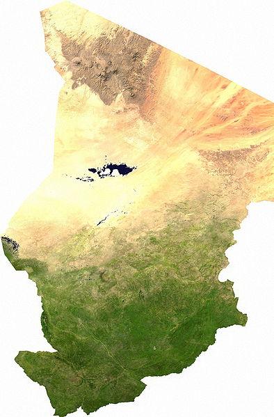 la carte de Tchad haute résolution