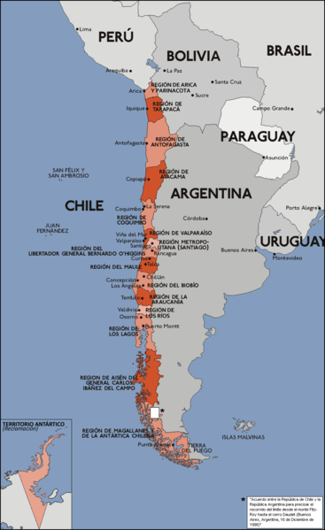 el mapa de Chile en gran resolucion