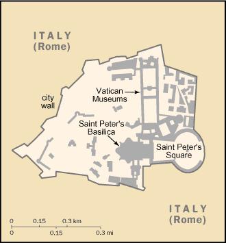 el mapa de Ciudad del Vaticano en gran resolucion