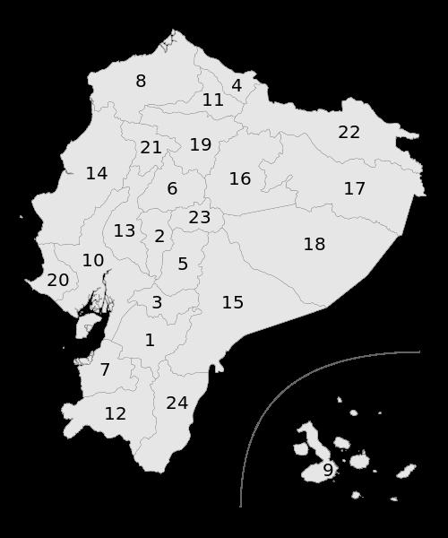 mapa  Equador em alta resolução